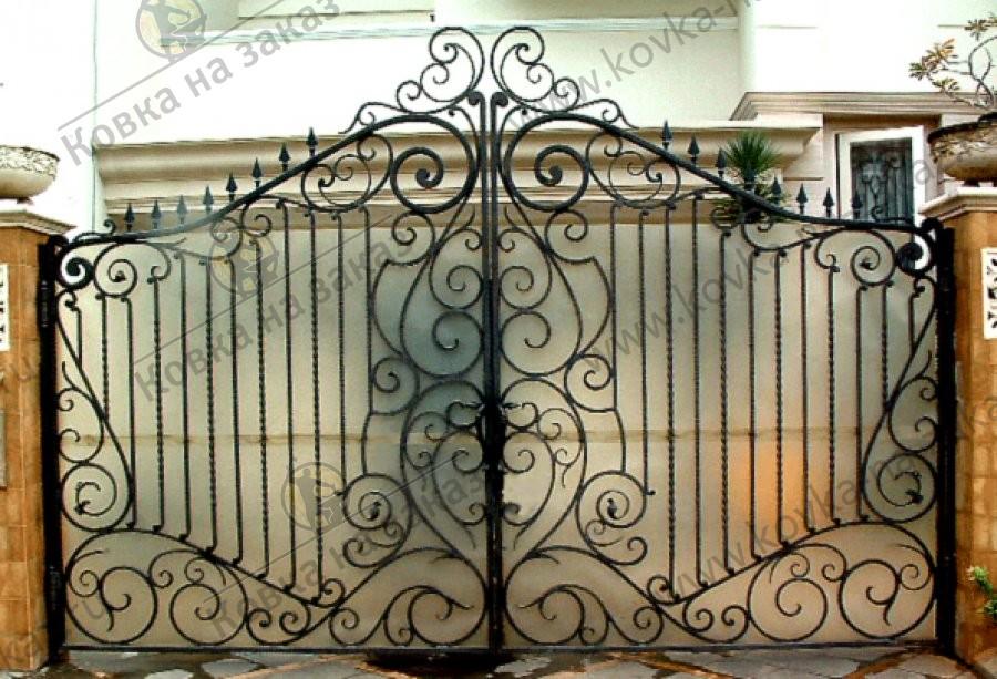 кованый ворота фото