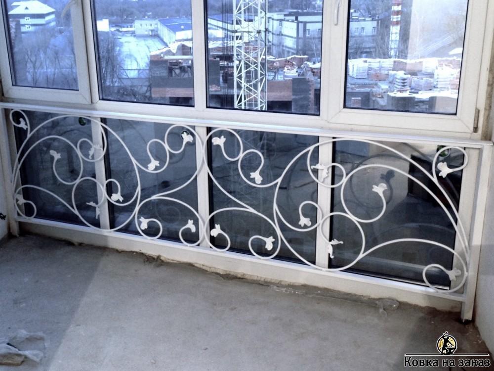 """Кованое ограждение балкона 1342 кузница """"ковка на заказ"""" мос."""